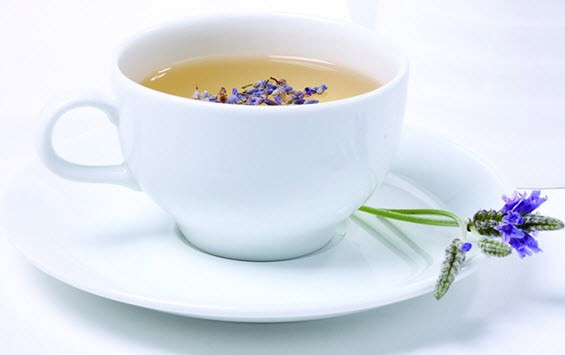 Chamomile and lavender tea