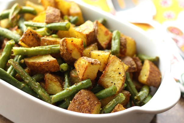 Sweet Potato and Green Beans