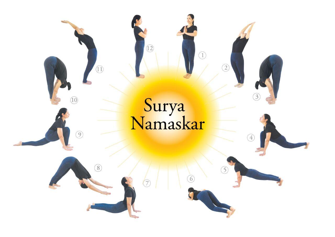 The Sun Salutation (Surya Namaskara