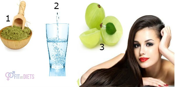 Henna and Amla Pack for Healthy Hair