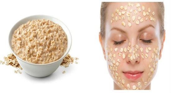 Oatmeal Scrub for acne