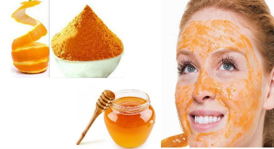 Orange peel powder and honey mask for summer