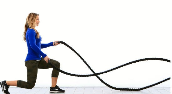 Battle Ropes Figure 8 Slams