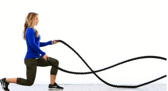 Battle Ropes Figure 8 Slams