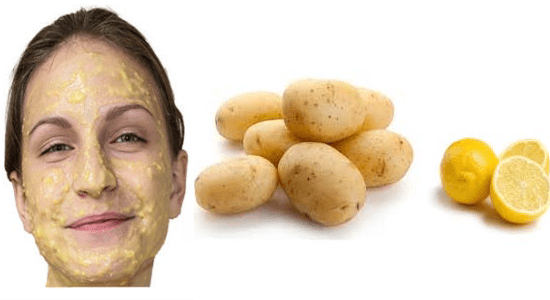Lemon and Potato Juice Face pack