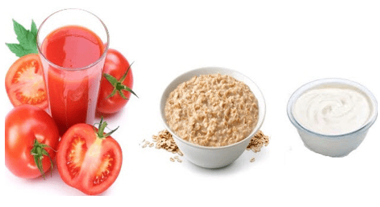 Yogurt, Tomato Juice and Gram Flour Facepack