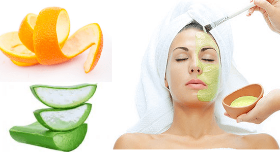 Aloe Vera and Orange Peel Face Pack