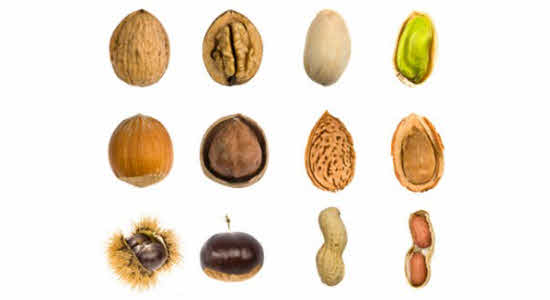 Nuts (Most varieties of nuts)