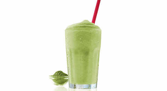 Matcha Pear Green Protein Smoothie