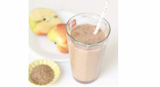 apple-flaxseed-meal-shake